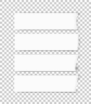 Zerrissene papierbeschaffenheit