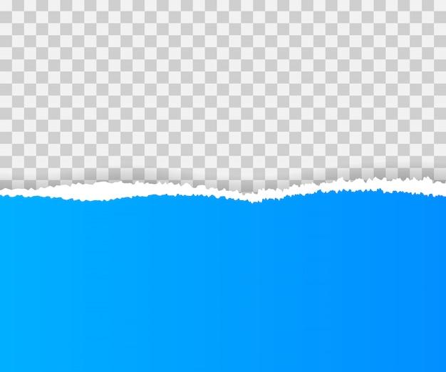 Zerrissene papierkanten, nahtlos horizontal.
