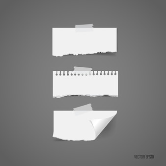 Zerrissene papierkollektion
