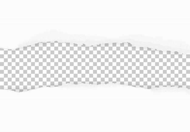Zerrissene papierränder für hintergrund. abstraktes zerrissenes papier.