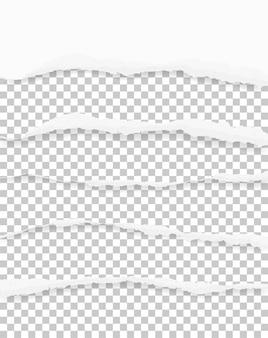 Zerrissene papierränder für hintergrund mit bereich für kopienraum