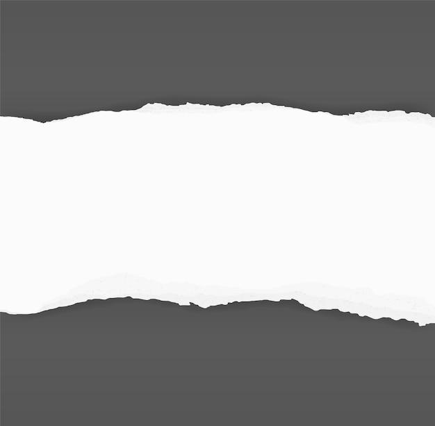 Zerrissene papierränder für hintergrund. zerrissener papierbeschaffenheitshintergrund.