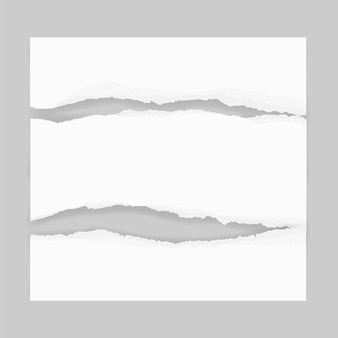 Zerrissene papierränder für hintergrund.