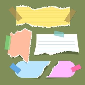 Zerrissene papiersammlung