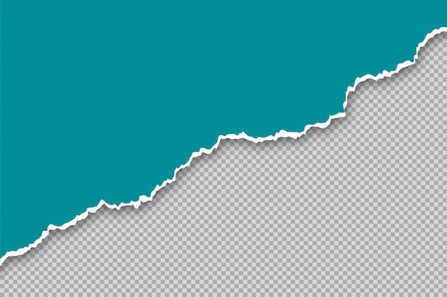 Zerrissener gerissener papierblattrand transparenter hintergrund