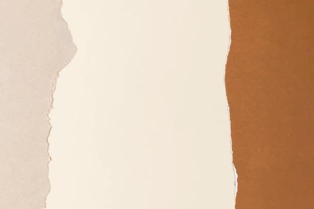 Zerrissener papierhandwerksrahmenvektor handgemachter erdtonhintergrund