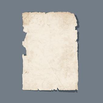 Zerrissenes blatt alten papiers