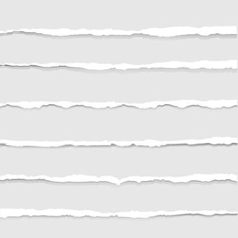 Zerrissenes papier getrennt