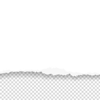 Zerrissenes papier mit zerrissener kante