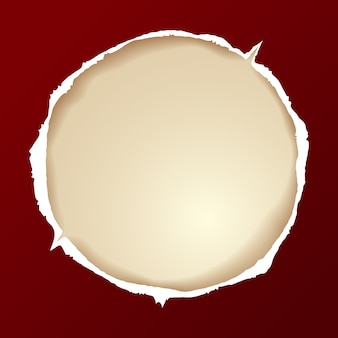 Zerrissenes papier rund
