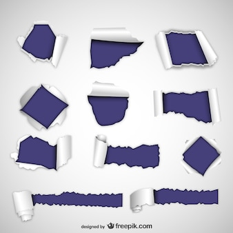 Zerrissenes papier texturen