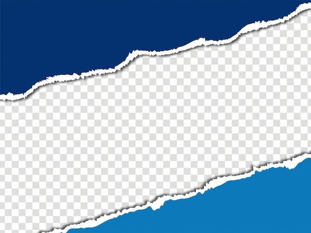 Zerrissenes papier zerrissener blattarthintergrundvektor