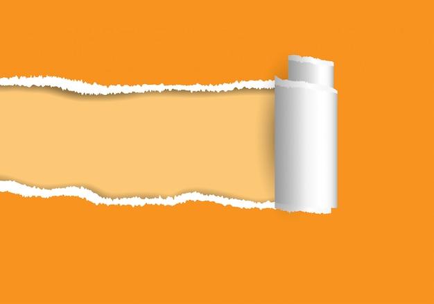 Zerrissenes papier.