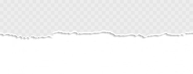 Zerrissenes papierbanner in weißer farbe zerrissen