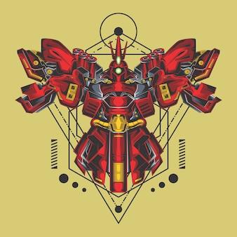 Zerstörer roboter heilige geometrie