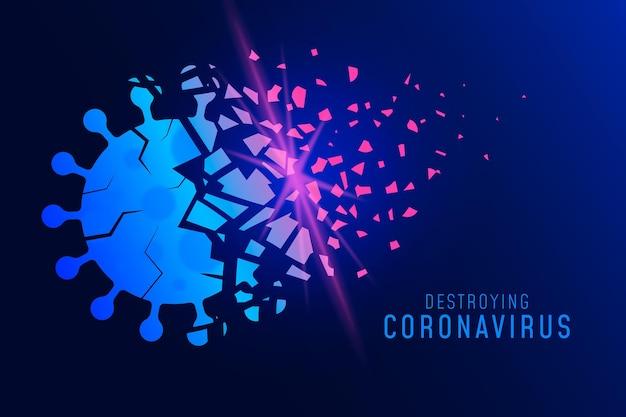 Zerstörung des coronavirus-hintergrunds