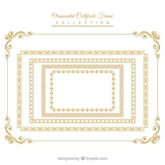Zertifikat frames sammlung mit ornamenten
