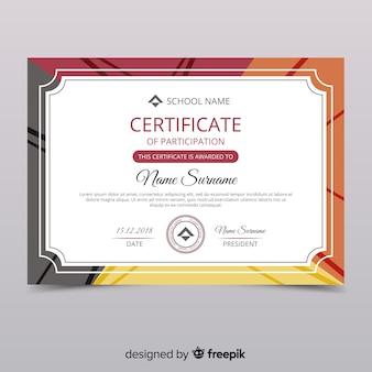 Zertifikat für die teilnahme