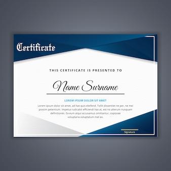 Zertifikat für leistungsvorlage