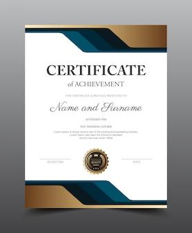 Zertifikat-layout-template-design, luxus und modernen stil