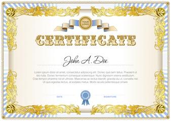 Zertifikat leere Vorlage in weichem Farb-Gamma.