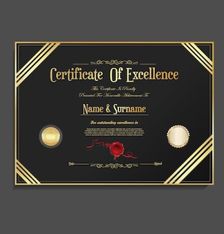 Zertifikat oder diplom-retro-vintage-design-vorlage