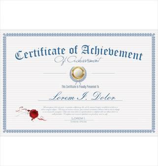Zertifikat oder diplom retro vintage vorlage