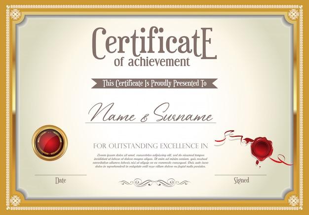 Zertifikat oder diplom retro