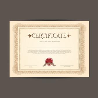 Zertifikat oder diplom-vorlage
