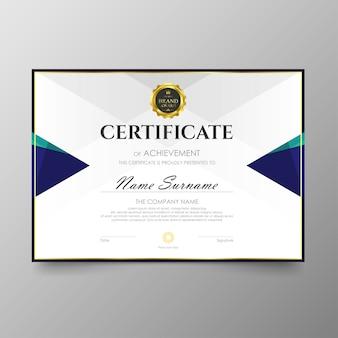 Zertifikat premium-vorlage auszeichnungen diplom hintergrund vektor wert und luxus-layout.
