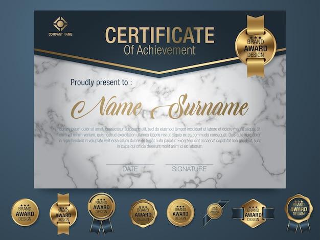 Zertifikat vorlage luxus-und diplom-stil