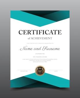 Zertifikatlayoutvorlage. luxus und moderner stil