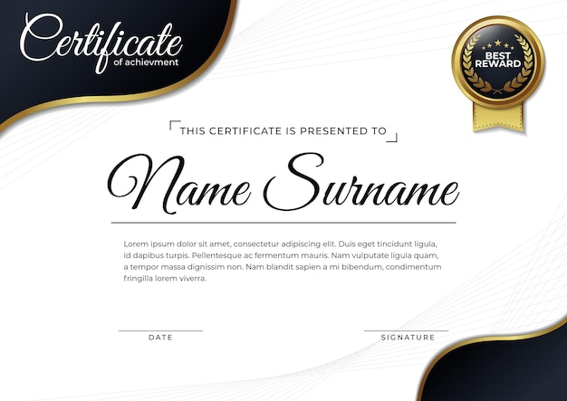 Zertifikatsentwurfsvorlage für leistung