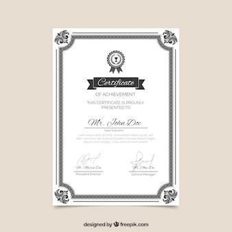 Zertifikatsgrenze mit verzierung