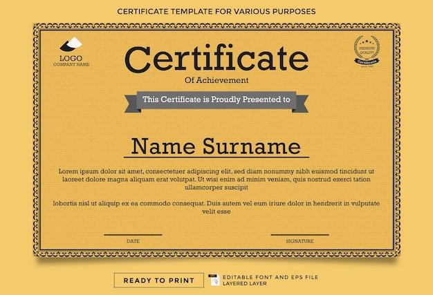Zertifikatsvorlagen sind editierbar und druckfertig