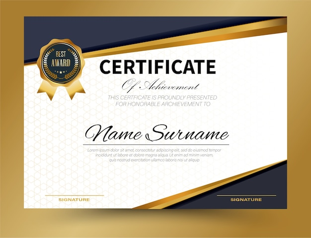 Zertifikatvorlage design a4 größe