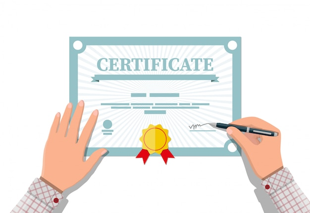 Zertifikatvorlage. diplom oder akkreditierung