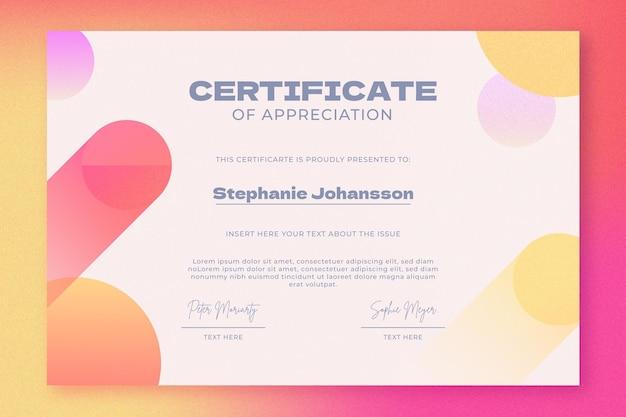 Zertifikatvorlage für farbverlauf