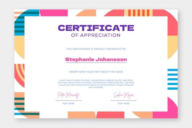 Zertifikatvorlage für geometrisches mosaik
