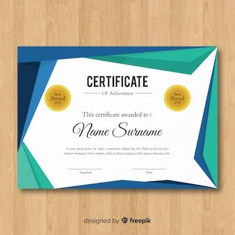 Zertifikatvorlage im modernen stil