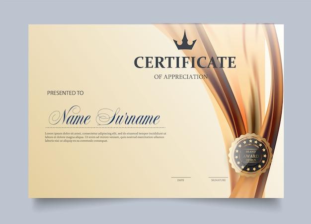 Zertifikatvorlage im vektor für leistungsabschlussabschluss