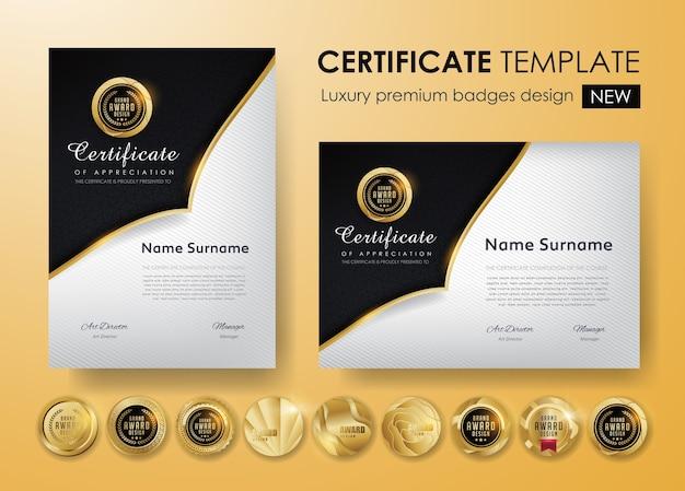 Zertifikatvorlage mit luxusmuster