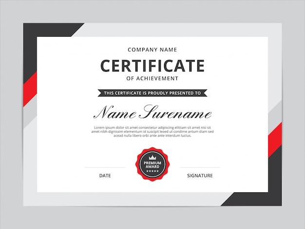 Zertifikatvorlagen-design