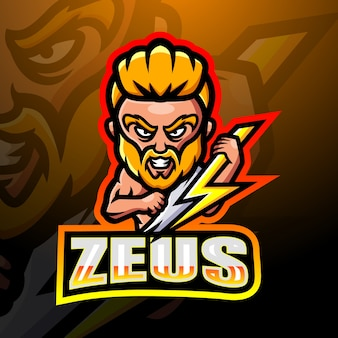 Zeus maskottchen esport illustration