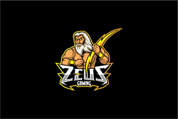 Zeus mit bolzenvektor