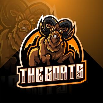 Ziege esport maskottchen logo vorlage