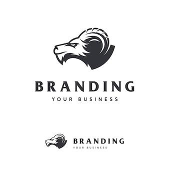 Ziege-logo-vorlage