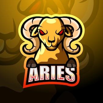 Ziege maskottchen esport logo design