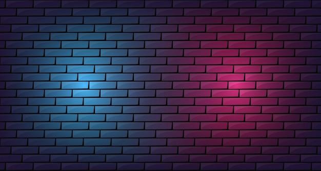 Ziegelstein mit geführtem glühenhintergrund