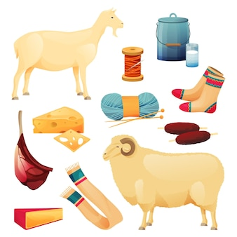 Ziegen- und schafsrinderprodukte